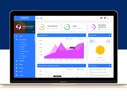 STRAPUI Material Dashboard