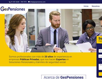 Sitio Web Institucional - GesPenciones