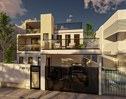 2 storey with roof deck