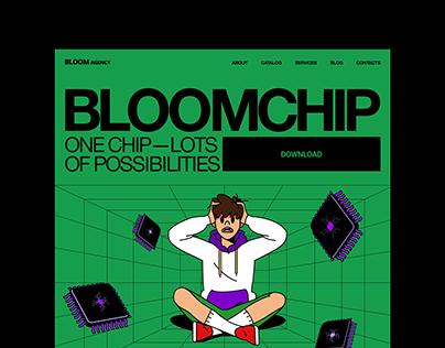Bloom agency. Promo site