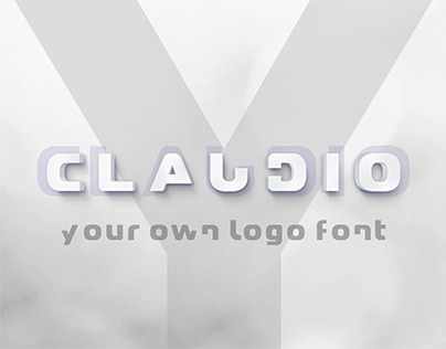 Claudio - your own logo font - free version