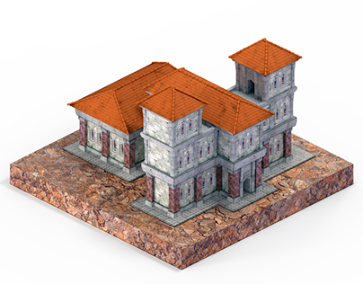 Church ( Isometric 3D Game Model )