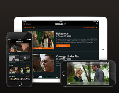 SundanceTV Mobile & Tablet Application