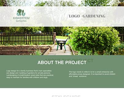 Logo design for a gardening business