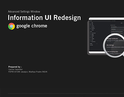 Information UI redesign for chrome advance settings