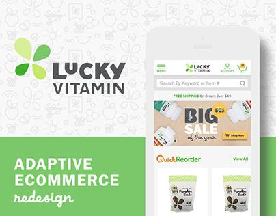LuckyVitamin: adaptive ecommerce UI/UX