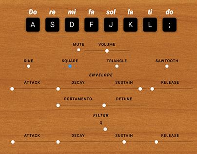 Soundsurgeon HTML5 Synthesizer — UI Design