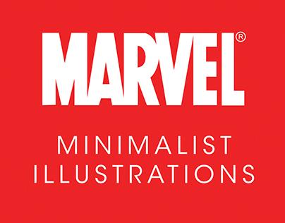 Minimalist Illustrations of Marvel Characters