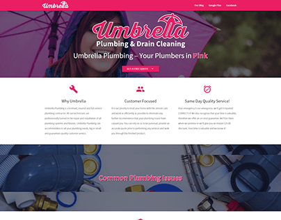 Umbrella Plumbing Website