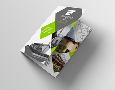 Estate agents bifold brochure and business cards
