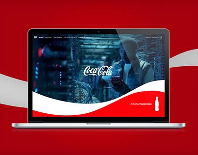 COCA-COLA WEBSITE  (personal project)