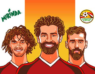Character Design of Egyptian Football Team for Mirinda