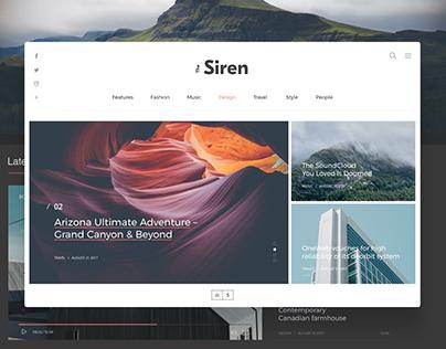 The Siren Wordpress Blog&Magazine ✦ Free ✦