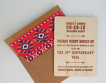 Invitation Designed for Western Theme Party in Vail