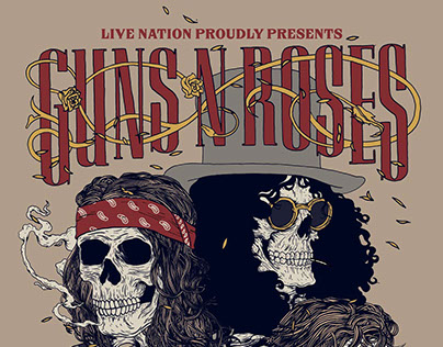GUNS n ROSES - OFFICIAL POSTER