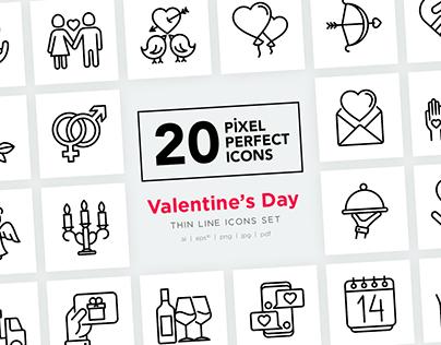Valentine's Day | 20 Pixel Perfect Icons
