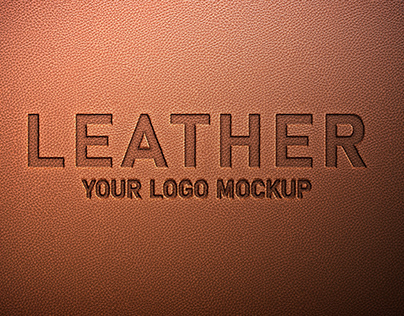 Free Leather Logo Mockup PSD