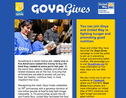Goya Gives