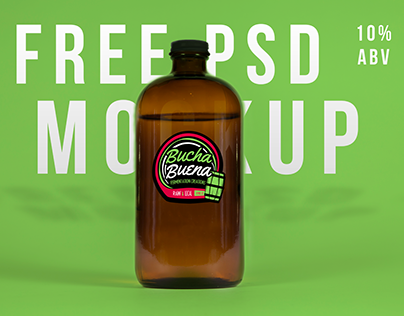 Free Glass Growler PSD Mockup