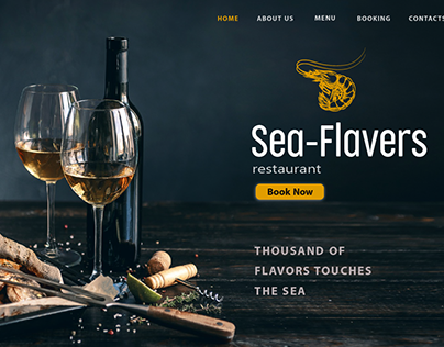 Sea-Flavers Restaurant Web design
