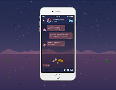 Night mode chat (Concept design)