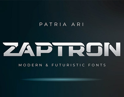 Zaptron - Modern Fonts