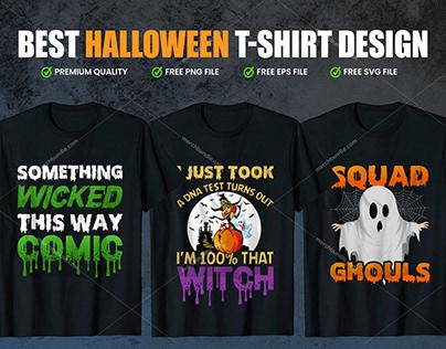Halloween T-Shirts Design Bundle