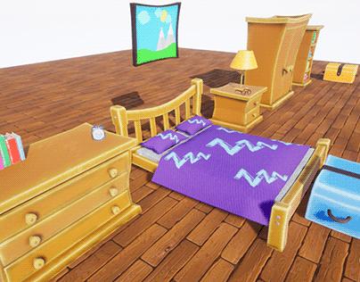 Stylized Bedroom Furniture [UE4]