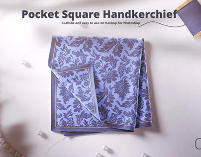 Silk Square Handkerchief Mockup