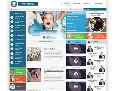 Diş Portalı Responsive CSS/HTML Kodlama
