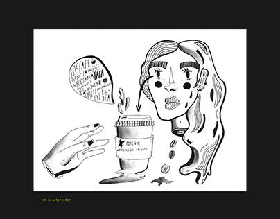 ink illustrations / ilustraciones en tinta