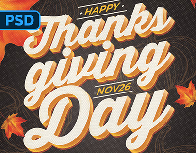 Thanksgiving Day Flyer - PSD Template
