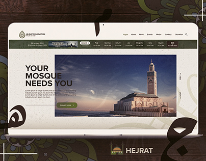 Hejrat Foundation (Mosque Website) UI/UX