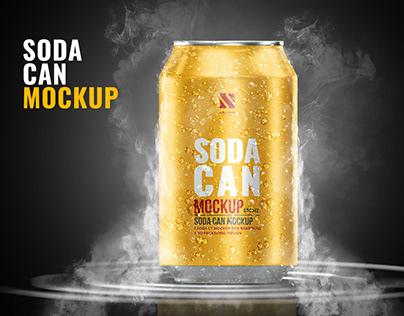Aluminium Soda Can Mockup