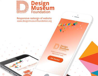 Design Museum Foundation Mobile & Web App(Redesign)