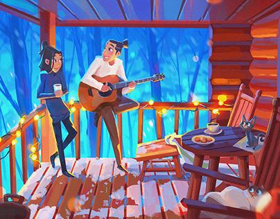 Illustration for Official Lyric Video