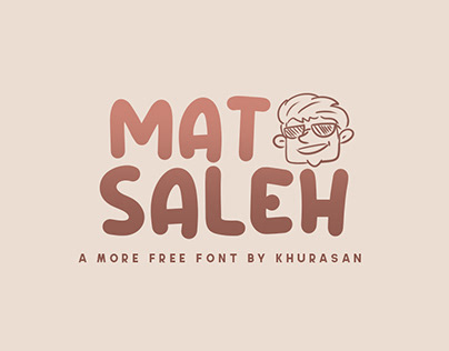 Mat Saleh free font for commercial use