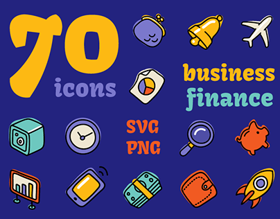 Business And Finance Hand Drawn Icons
