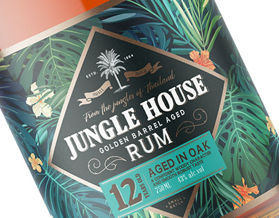 Jungle House Rum Label