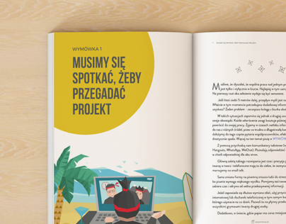E-book design and illustrations for Zdalny Ninja
