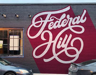 Cross Street Market Fed Hill Mural