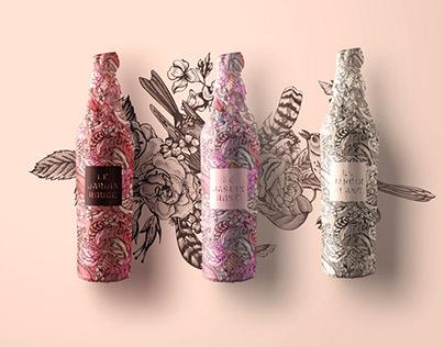 Le Jardin Tattoo Wine Packaging