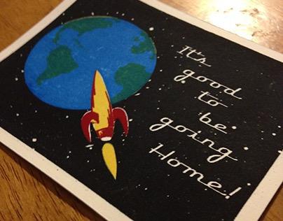 """Home"" Screen Print Card"