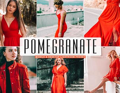 Free Pomegranate Mobile & Desktop Lightroom Preset