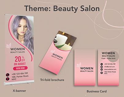 Trifold Brochure, X-banner & Business Card Design