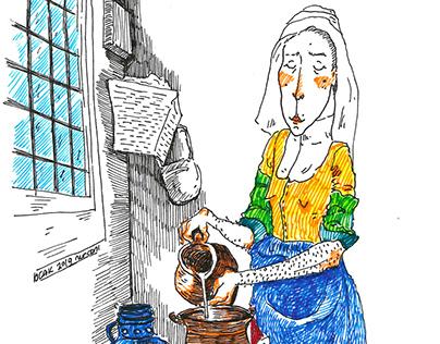 """Johannes Vermeer """"Süt Boşaltan Kadın"""""""