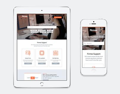 UI / UX customer support portal