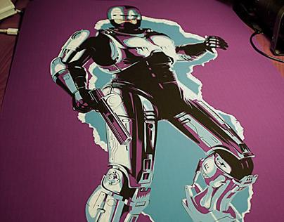 Robocop: Ilustración vectorial