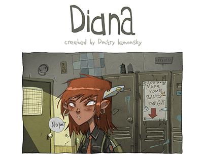 Diana. Short comic experiment.