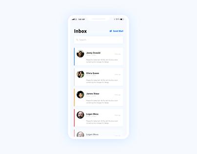 Daily UI 05 - Mail UI Design